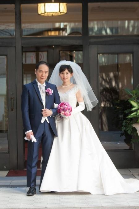 山の上ホテル ウェディングドレス カラードレス ピンク レンタル azuma-dress.co.jp azuma-dress tokyo blanc-bijou